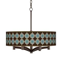 Stacy Garcia Porthole Ava 6-Light Bronze Pendant Fixture