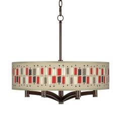 Bounce Ava 6-Light Bronze Pendant Chandelier