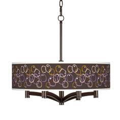 Linger Ava 6-Light Bronze Pendant Chandelier