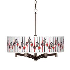 Shutter Ava 6-Light Bronze Pendant Chandelier