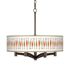 Tremble Ava 6-Light Bronze Pendant Chandelier