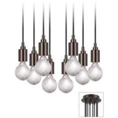 Europa 8 Halogen Light Bronze Swag Chandelier