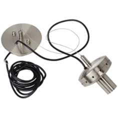 Brushed Nickel DIY Pendant Chandelier Adaptor Kit