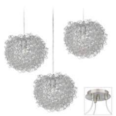 Shirley Brushed Nickel Triple Swag Chandelier