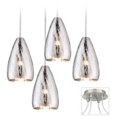 Portico Brushed Nickel 4 Swag Chandelier