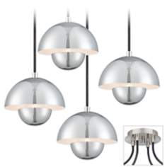 Voyager Brushed Nickel 4 Swag Chandelier