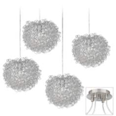 Shirley Brushed Nickel 4 Swag Chandelier
