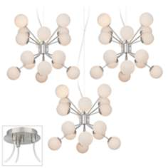 Hydra Brushed Nickel Triple Swag Chandelier