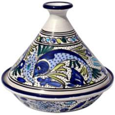 Le Souk Ceramique Aqua Fish Design Serving Tagine