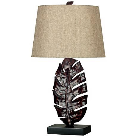 Kenroy Home Frond Bronze Table Lamp