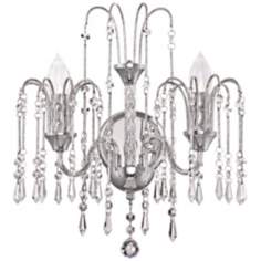 "Crystal Rain 16"" High 2-Light Crystal Wall Sconce"