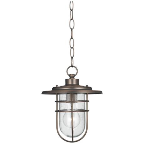 "Stratus Collection 10 1/2""H Bronze Outdoor Hang Light"