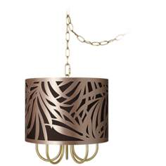 "Wynwood Gold 13 1/2"" Wide Tropical Mini Swag Chandelier"
