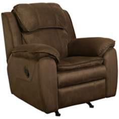 Caprice Brown Microsuede Pushback Recliner