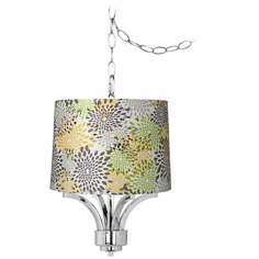 "Fortuna Chrome 14"" Wide Abstract Flower Mini Chandelier"