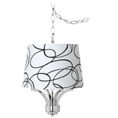 "Fortuna Chrome 16"" Wide Squiggle Shade Mini Chandelier"