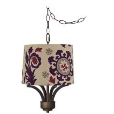 "Fortuna Bronze 14"" Wide Moroccan Canvas Mini Chandelier"