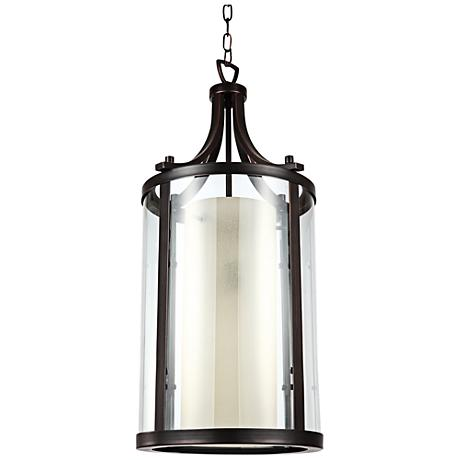 "Essex 13 1/4"" Bronze 2-Light Pendant Light"