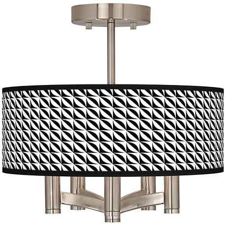 Waves Ava 5-Light Nickel Ceiling Light