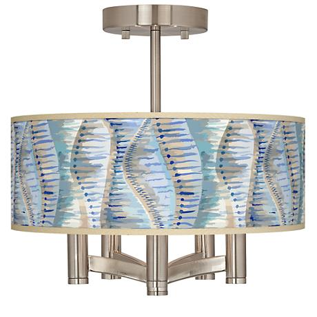 Siren Ava 5-Light Nickel Ceiling Light