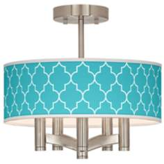 Tangier Blue Ava 5-Light Nickel Ceiling Light