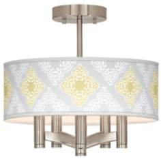Aster Grey Ava 5-Light Nickel Ceiling Light