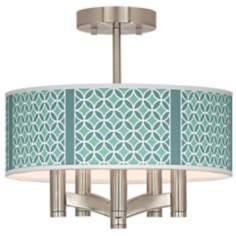 Aqua Rings Ava 5-Light Nickel Ceiling Light
