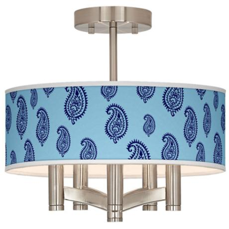 Paisley Rain Ava 5-Light Nickel Ceiling Light