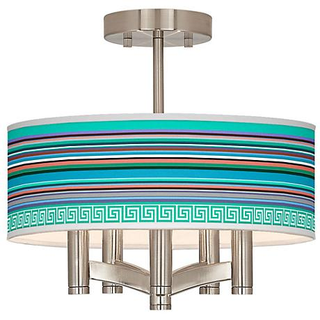 Key West Party Time Ava 5-Light Nickel Ceiling Light
