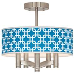 Blue Lattice Ava 5-Light Nickel Ceiling Light