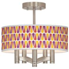 Hinder Ava 5-Light Nickel Ceiling Light