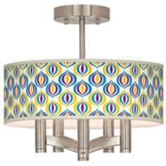 Scatter Ava 5-Light Nickel Ceiling Light