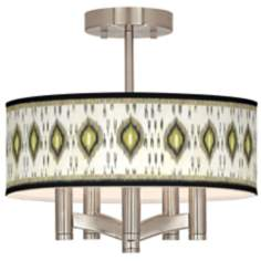 Desert Ikat Ava 5-Light Nickel Ceiling Light