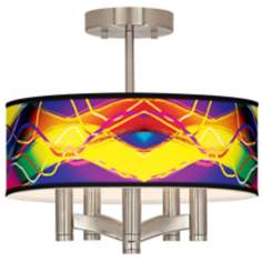 Colors in Motion (Light) Ava 5-Light Nickel Ceiling Light