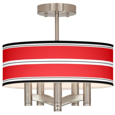Red Stripes Ava 5-Light Nickel Ceiling Light
