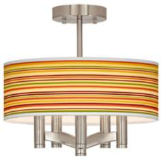 Stacy Garcia Harvest Stripe Ava Nickel Ceiling Light