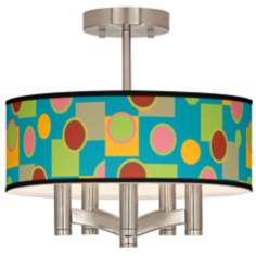 Vibrant Retro Medley Ava 5-Light Nickel Ceiling Light