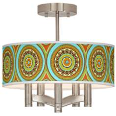 Stacy Garcia Arno Mosaic Daybreak Ava Nickel Ceiling Light