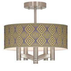 Deco Revival Ava 5-Light Nickel Ceiling Light
