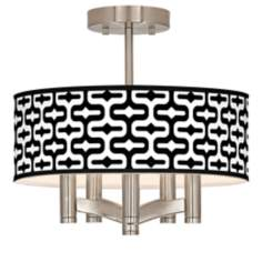 Reflection Ava 5-Light Nickel Ceiling Light