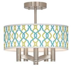 Hyper Links Ava 5-Light Nickel Ceiling Light