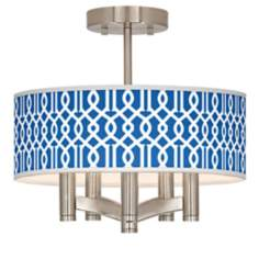Chain Reaction Ava 5-Light Nickel Ceiling Light