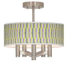 Side By Side Ava 5-Light Nickel Ceiling Light