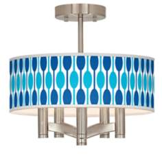 Jet Set Ava 5-Light Nickel Ceiling Light