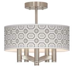 Luxe Tile Ava 5-Light Nickel Ceiling Light