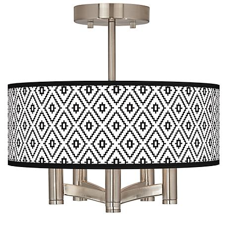 Black Diamonds Ava 5-Light Nickel Ceiling Light