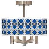 Four Corners Ava 5-Light Nickel Ceiling Light