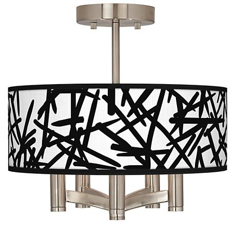 Sketchy Ava 5-Light Nickel Ceiling Light