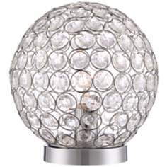 "Geominster 11 3/4"" High Beaded Globe Accent Lamp"