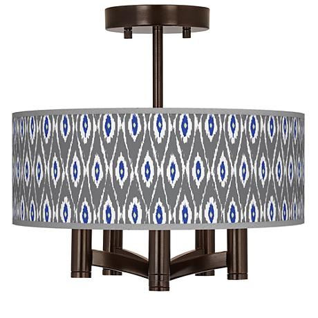 American Ikat Ava 5-Light Bronze Ceiling Light
